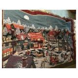 """Nice """"Dickens Village"""" Blanket"""