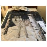 Wolf Blanket & 2 Wolf Pillows