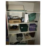 lot with storage bins, power strips & misc
