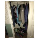 Closet FULL of jackets, umbrellas, gloves, etc