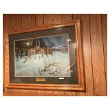 Framed Silent Night Signed/#ered by Hayden