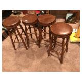 Vintage Set of 4 Bar Stools