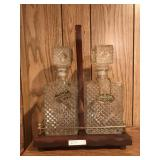 Pr Decanters in Wood Case