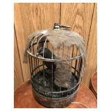 Halloween Chirping Bird in Cage