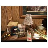 Lot Including Brass, Lamp, Mirror, etc...