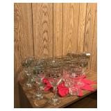 Lot of Holiday Christmas Glasses