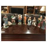 9 pc Bisque Nativity Set