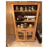 Double Glass Door Bookcase/Cabinet