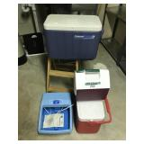 Lot with Coolers, Step-ladder,Foot Saver, etc