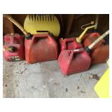 Lot of Gas Cans, Plastic Crate, etc...