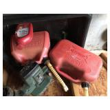 Lot with Edger, gas cans, etc...