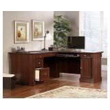 Sauder Palladia L-Shaped Desk, Select Cherry