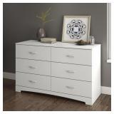 South Shore SoHo 6-Drawer Double Dresser,in white