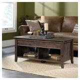 Sauder Carson Forge Lift-Top Wood and Metal