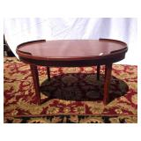 Mersman oval wood coffee table