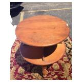 Two tier wood end table