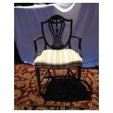 Vintage wood chair & cushion