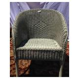 Wicker barrell chair