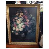 """""""Pink Roses in a Vase""""~Jensen framed print"""