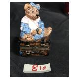 Bearware Pottery Mama bear & hiding baby figurine