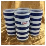 Navy/White striped cups