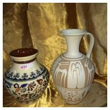Vase & Greek style pitcher