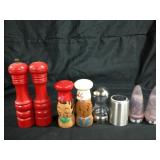 Assorted salt & pepper shakers