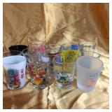 Assorted shot glasses