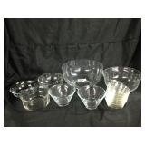 Assorted glass bowls