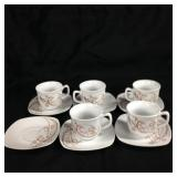 Keyif Princess porcelain tea cups & saucers