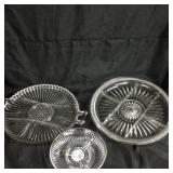 Trio of glass microwave plates