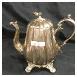 Antique Reed & Barton silver plated tea kettle