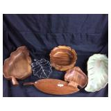 Assorted leaf motif trays/ Candy bowls