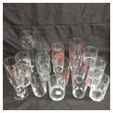 Assorted cocktail glasses