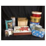 Assorted Holiday tins