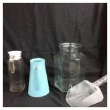Trio of carafes & ice scoop