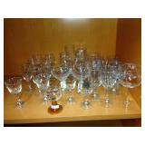 Assorted wine & cocktail glasses