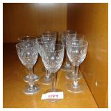 Set of sherry glasses (8)