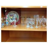 Assorted glass & servingware