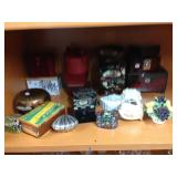 Assorted keepsake, jewelry, gift & trinket boxes