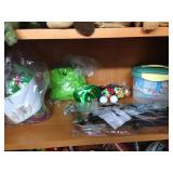 Assorted arts supplies & party decor