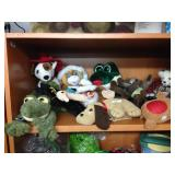 Assorted plush animal toys (beanie babies)