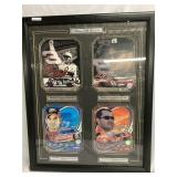 """Stars of Nascar"" framed art work"
