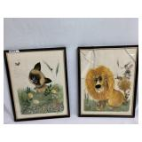Cartoon Animal Portraits of a Lion & Cat