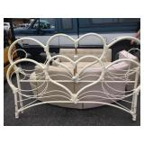 White heart headboard
