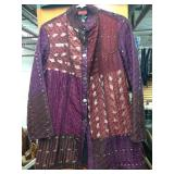 Purple & Burgundy Hand Quilted 100% Silk Jacket