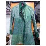 Forest Green Hand Quilted 100% Silk Jacket