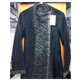 Stunning Black Hand Quilted 100% Silk Jacket