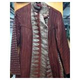 Burgundy Hand Quilted 100% Silk Jacket