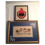 Two framed wall arts